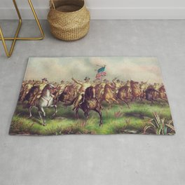 Roosevelt Leading The Rough Riders - Spanish American War Rug