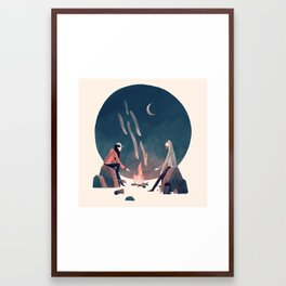 Happy Camping Framed Art Print