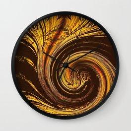 Golden Filigree Germination Wall Clock