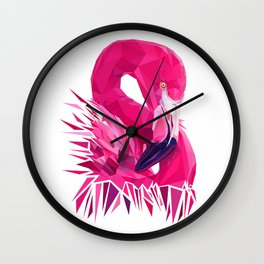 Flamingo geometry Wall Clock