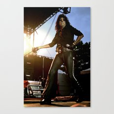 Alice Cooper Fence Stance Canvas Print