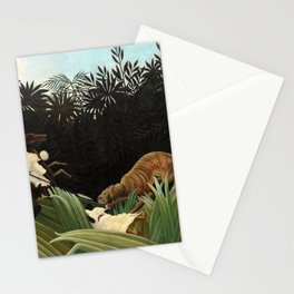Henri Rousseau - Scouts Attacked by a Tiger Stationery Cards