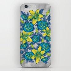 Flowers - Blue iPhone & iPod Skin