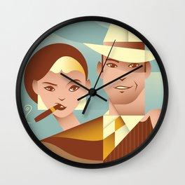 Bonnie & Clyde Wall Clock