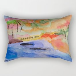 White River Fall Rectangular Pillow