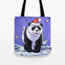 Panda Bear Christmas Tote Bag