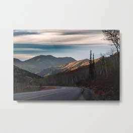 Cottonwod Sunset Metal Print