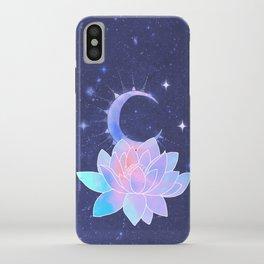moon lotus flower iPhone Case