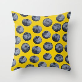 Blueberry pattern Throw Pillow