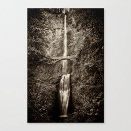 Waterfalls-B&W-Sepia Canvas Print