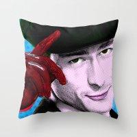 chad wys Throw Pillows featuring Scream Queens - Chad Radwell by Binge Designs Homeware