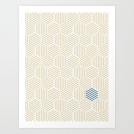 Hive Gold #397 Art Print