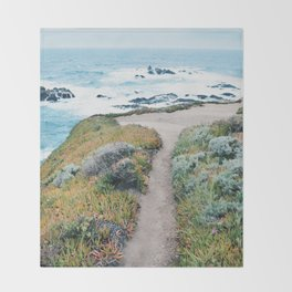 The Path to the Ocean Throw Blanket
