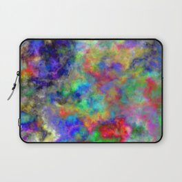 Abstract bright colorful watercolor brushstrokes pattern Laptop Sleeve