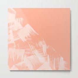 Sweet Life Paint Swipes Peach Coral Pink Metal Print