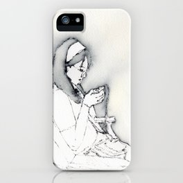 grace listens to music iPhone Case