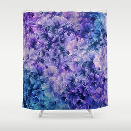 Hibiscus Flower Pattern Shower Curtain