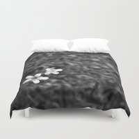 pee wee Duvet Covers featuring Wee flowers by tatakis