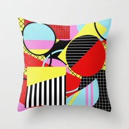 Retro Geometry - Geometric, abstract, bold design Throw Pillow
