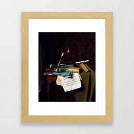 William Michael Harnett The Last Summer Rose Framed Art Print