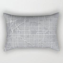 Lincoln Map, Nebraska USA - Pewter Rectangular Pillow
