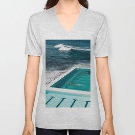 Bondi Icebergs Club I art print Unisex V-Neck