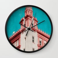 building Wall Clocks featuring Building by Sweet Moments Captured