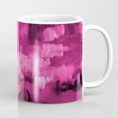 Paint 4 abstract minimal modern art painting canvas affordable art passion pink urban decor Mug