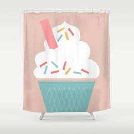 Ice Cream (Peach) Shower Curtain