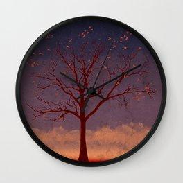 Geo Tree Wall Clock