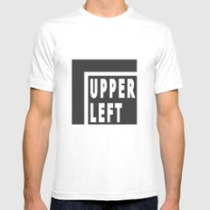 Upperleft Gray White MEDIUM Mens Fitted Tee