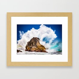 Ocean Wave Crash Framed Art Print