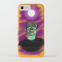 frankenstein iPhone & iPod Cases featuring Frankenstein  by JT Digital Art
