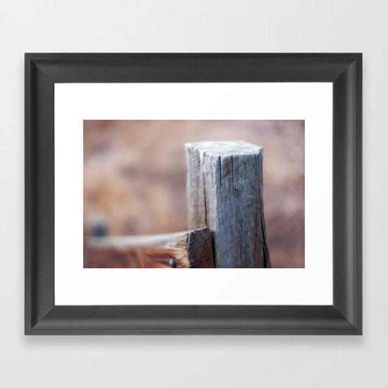 Fence Post II Framed Art Print