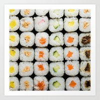 sushi Art Prints featuring Sushi by Katieb1013