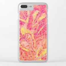 Schismatoglottis Calyptrata – Pink/Peach Palette Clear iPhone Case