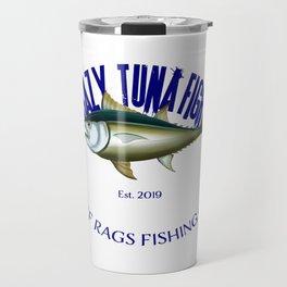 Crazy Tuna Fight Deep Sea Saltwater Fishing design Travel Mug
