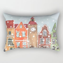 winter town Rectangular Pillow