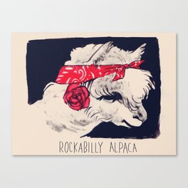 Rockabilly Alpaca Canvas Print