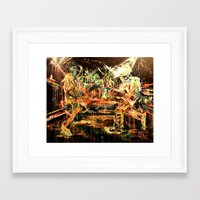nirvana Framed Art Prints featuring Nirvana by 2700art