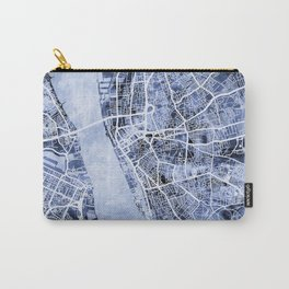 Liverpool England City Street Map Carry-All Pouch
