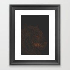 All lines lead to the...Tiger Framed Art Print