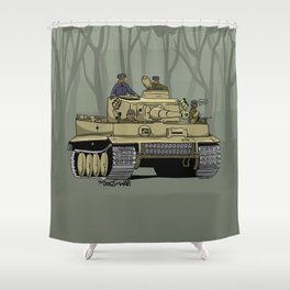 Dogs of War: Tiger 1 Shower Curtain