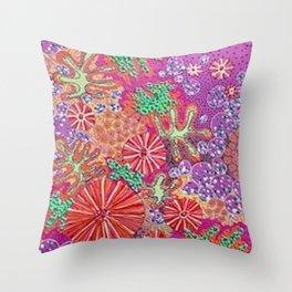 PinkTangerine Throw Pillow