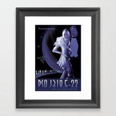 NASA Retro Space Travel Poster #10 PSO J318.5-22 Framed Art Print