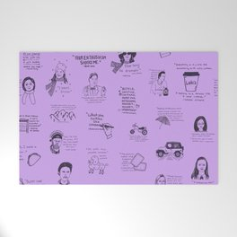 Gilmore Girls Quotes in Purple Welcome Mat