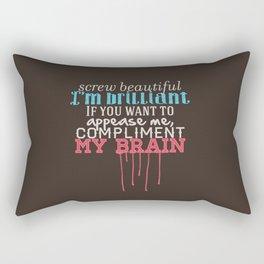 Compliment my brain Rectangular Pillow