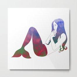 Russet Mermaid Metal Print