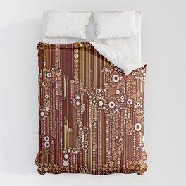 Cityscape in Earthtones Comforters