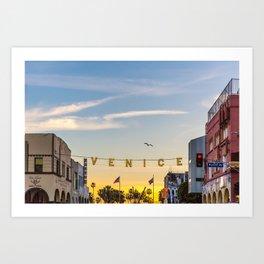 VENICE BEACH FEB 2017 Art Print